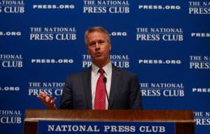 AP President and CEO Gary Pruitt addresses National Press Club in Washington, June 19, 2013.