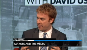 "AP New York City Hall reporter Jonathan Lemire discusses limited media access to New York Mayor Bill de Blasio on WNBC's ""The Debrief with David Ushery."""