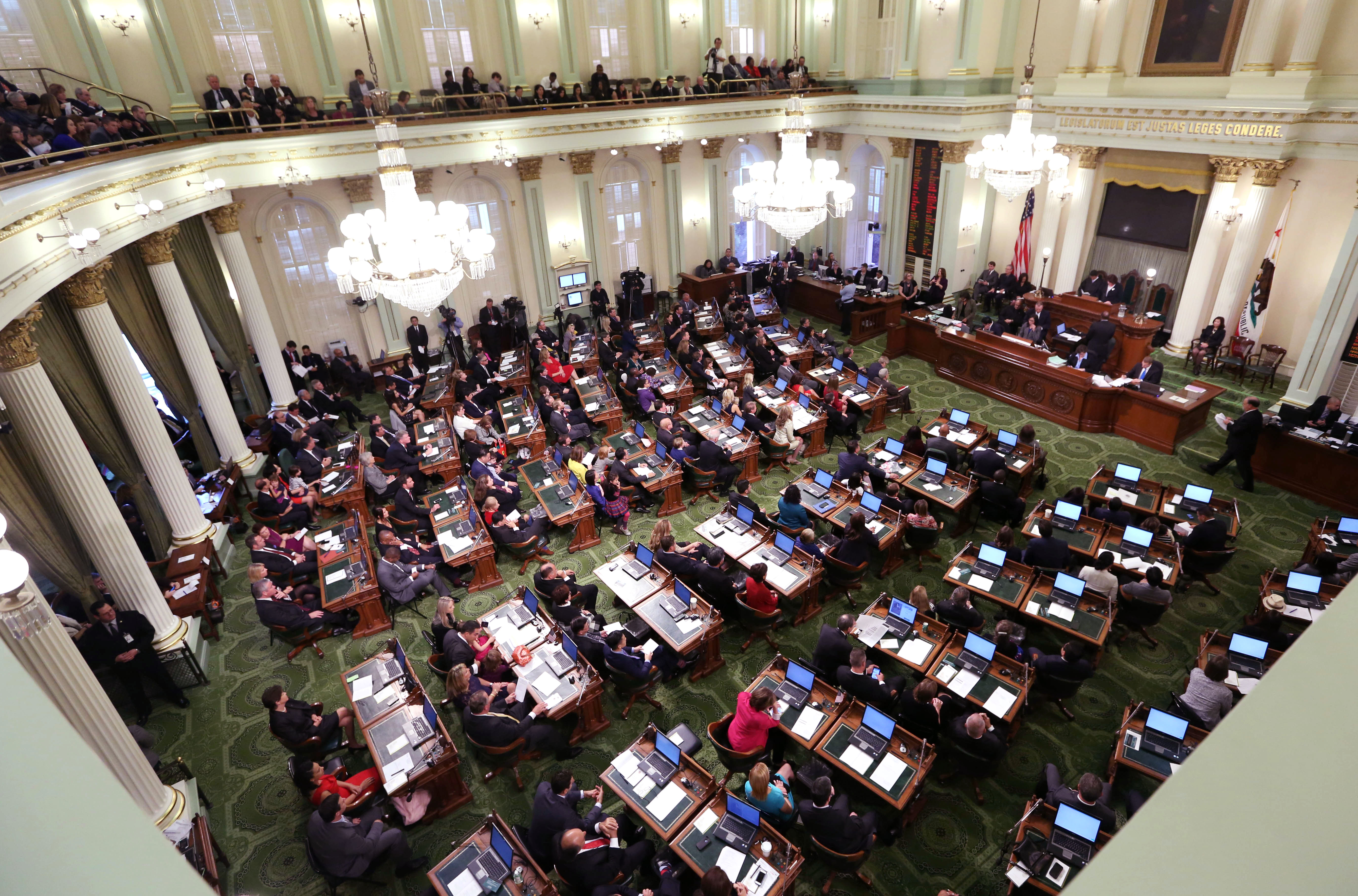 The california state assembly met for an organizational session where